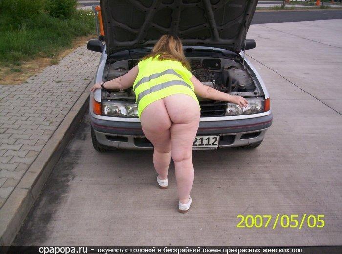 Фотография: внушительная попа в машине
