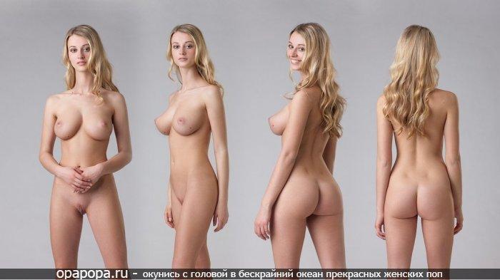 Молоденькая блондиночка с девичьей эффектной попкой